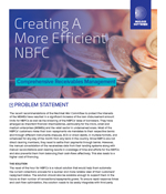 Creating A More Efficient NBFC