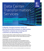 Data Center Transformation Services