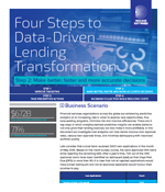 Four Steps to Data-Driven Lending Transformation - Step 2 Make better, faster and more accurate decisions