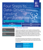 Four Steps to Data-Driven Lending Transformation - Step 3 Take pre-emptive actions