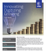 Innovating Digitizing Growing - Retail Bank case study