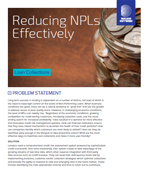 Reducing NPLs Effectively