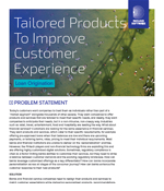 Tailored Products To Improve Customer Experience