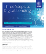 Three Steps to Digital Lending-Step 3 Make collections customer centric