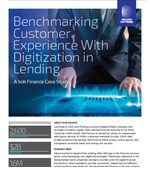 Benchmarking Customer Experience With Digitization in Lending
